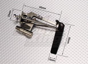 Twin Horn geanodiseerd In-line Strut Rudder w / Water Pick Up (Small)