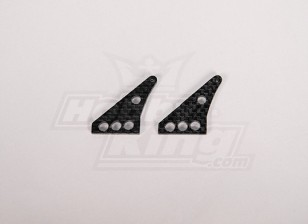 Carbon Fiber Controle Horn 32x24mm (2 stuks / zak)