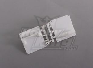 Servo Mount / Protectors White (1set / zak) 64mm x 67mm