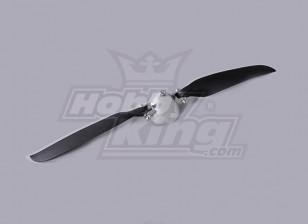 Folding Propeller W / Alloy Hub 45mm / 3mm Shaft 12x6 (1 st)