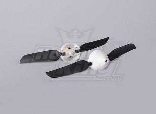 Folding Propeller W / Hub 18mm / 2mm Shaft 5.1x3.1 (2 stuks)