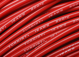 Turnigy Pure-Silicone Draad 16AWG 1m (Rood)