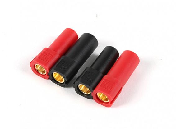 XT150连接器W /6毫米金连接器 - 红色和黑色(5对/袋)