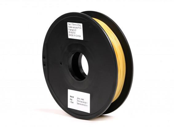 HobbyKing 3D打印机长丝1.75毫米PVA 0.5KG阀芯(自然科学)