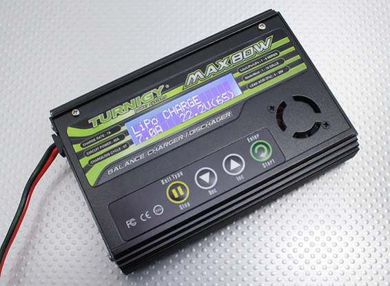 Turnigy MAX80W 7A锂聚合物电池充电器