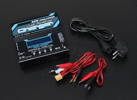 只是另一个充电器80W 6A 2〜6S平衡充电器瓦特/ PSU