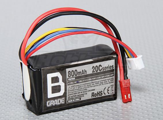 B级的800mAh 3S 20C Lipoly电池