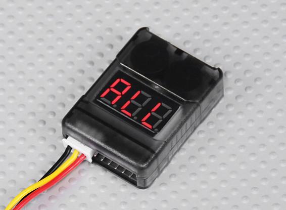 HobbyKing™细胞检查有低电压报警(2S-8S)