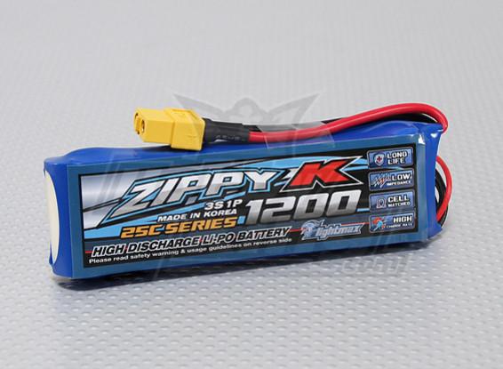 比比-K Flightmax 1200mAh的3S1P 25C Lipoly电池