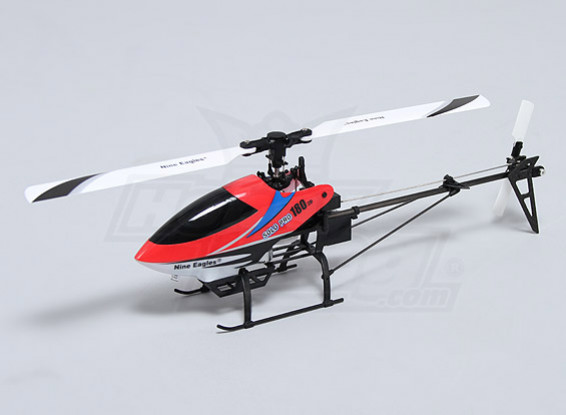 独奏PRO 180的3G无副翼3D微直升机 - 红色(AUS插头)(RTF)