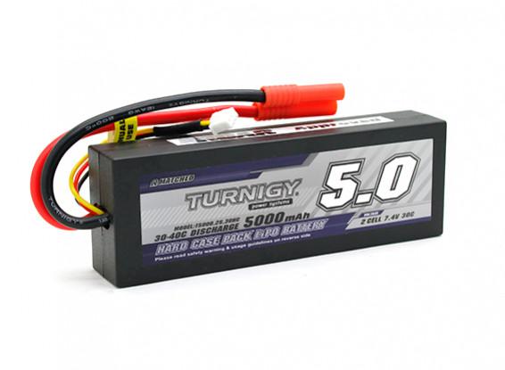 Turnigy 5000mAh的7.4V 2S1P 30C HARDCASE包(吼准)(DE仓库)