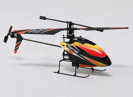 Hobbyking FP100 2.4GHz的4路微型直升机模式1(RTF)