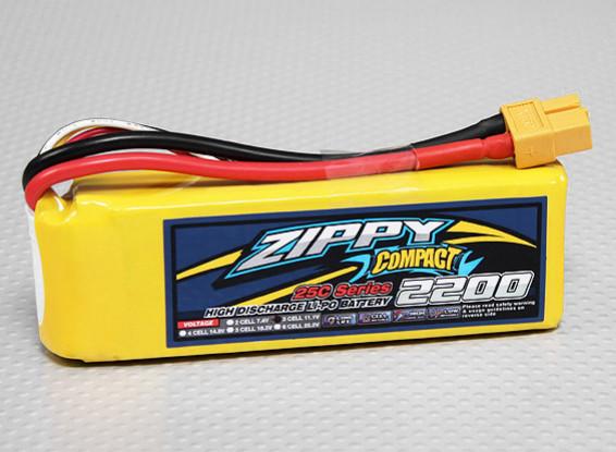 ZIPPY紧凑型2200mAh的3S 25C前列包