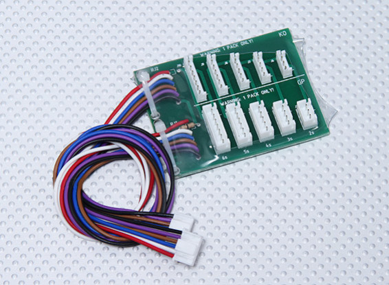 Turnigy 10XC JST-EH / JST-XH平衡适配器板