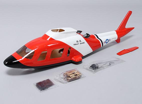 阿古斯塔A-109机身玻璃纤维为450直升机大小