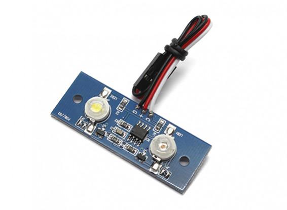 两个LED PCB频闪绿色和白色持续3.3〜5.5V