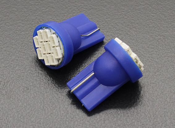 LED玉米灯12V 1.5W(10 LED) - 蓝色(2个)