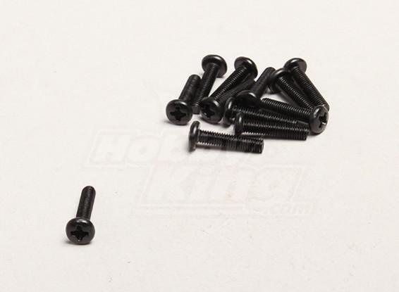 M3x14mm六角螺丝(12支/袋) -  Turnigy开拓者1/8,XB和XT 1/5