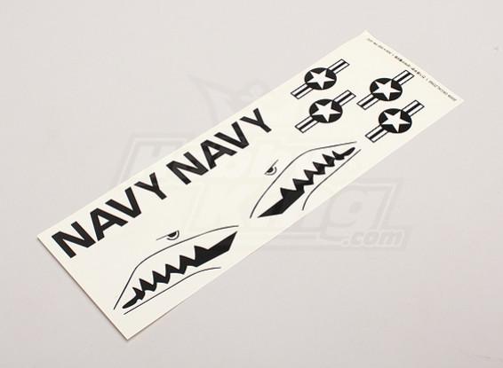 美国海军明星和酒吧/ Sharksmouth为Parkfly喷气机