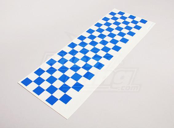 贴花表Chequer模式蓝/清除590mmx180mm