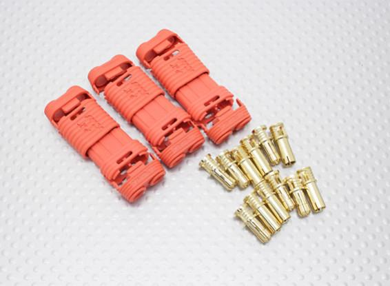 4毫米RCPROPLUS SUPRA点¯x黄金子弹极化电池连接器(3PC)