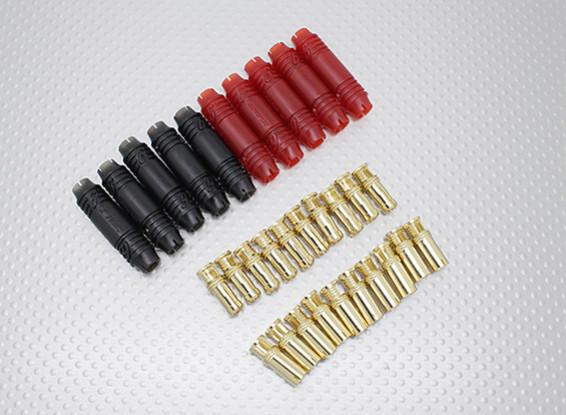 6毫米RCPROPLUS SUPRA点¯x黄金子弹极化电池连接器(5对)