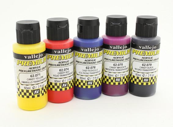 瓦列霍高级彩色亚克力漆 - 糖果色彩选择(5×60ml)中