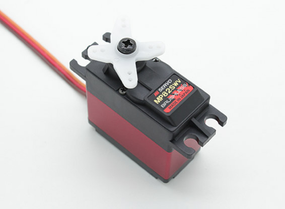JR MP82SWV宽电压高速无刷伺服与MG和散热器12.8公斤/ 0.09sec /72克
