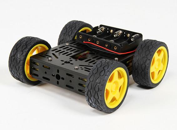 DG012-BV(基本版)4WD多机箱套件有了四个橡胶轮子