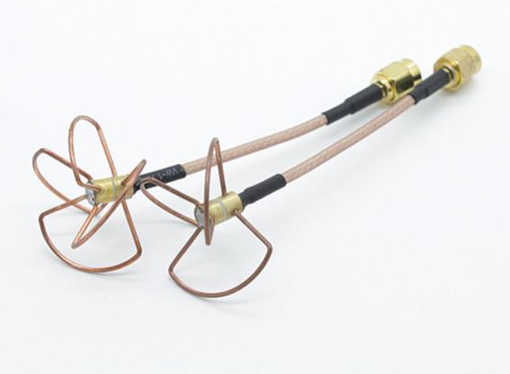 圆极化天线5.8GHz的套装(SMA)(LHCP)(60毫米)