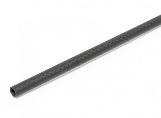 8×6×750毫米碳纤维管(3K)平纹编织亚光