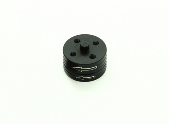 CNC铝合金快拆自紧道具适配器套装 - 黑色(逆时针)