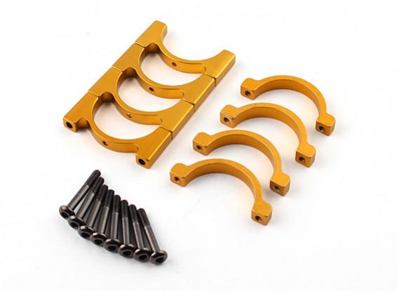 黄金阳极单面CNC铝合金管夹直径22mm