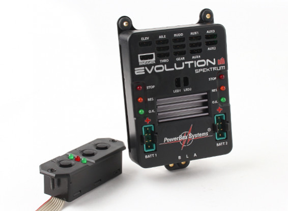 PowerBox的Spektrum进化W / SensorSwitch