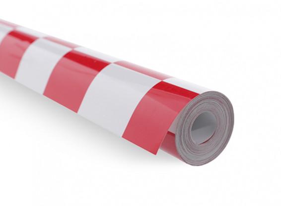 地膜覆盖烧烤,工作红/白(5mtr)401