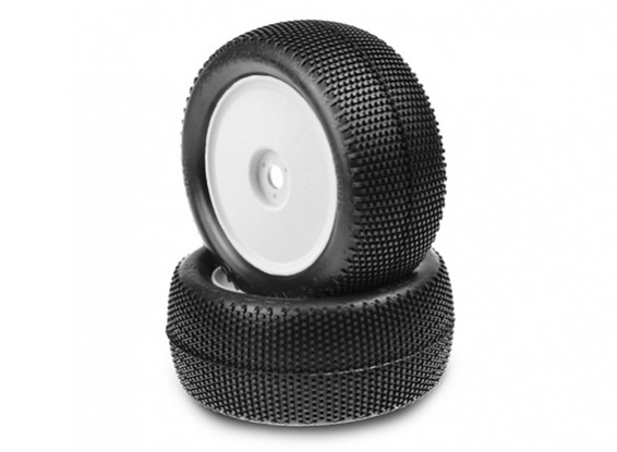 JCONCEPTS杂交1/8卡车预安装轮胎 - 格林(超软)化合物(白色)