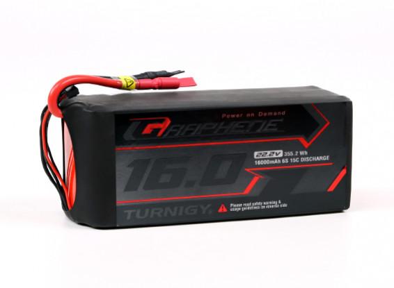 Turnigy石墨专业16000mAh 6S 15C锂聚合物包瓦特/5.5毫米子弹连接器