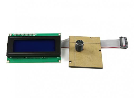 天威DIY的3D打印机相液晶面板没有外壳