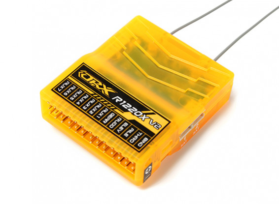 OrangeRx R1220X V2 12CH 2.4GHz的DSM2 / DSMX比较全范围接收瓦特/周六,分区蚂蚁,F /安全与SBUS