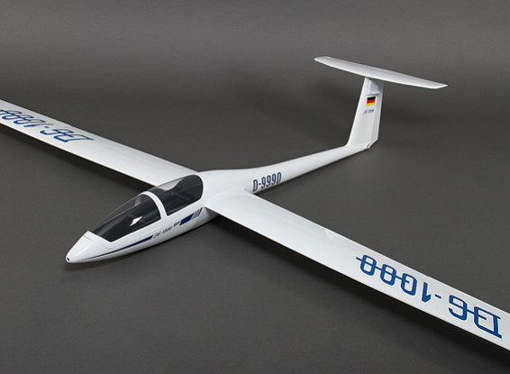 DG-1000复合滑翔机2650毫米W /空气制动系统/缩回主轮/ Geardoors(ARF)