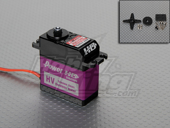 DS8325HV电源HD钛齿轮高压伺服31千克/79克/ .118sec