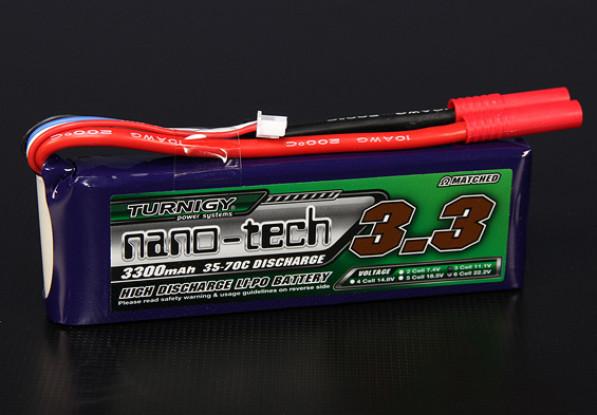 Turnigy纳米技术3300mAh的3S 35〜70℃的脂微球包