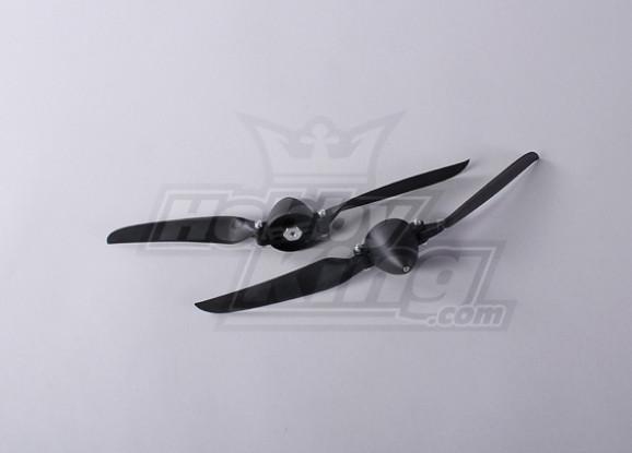折叠式螺旋桨W /集线器45毫米/4毫米轴11x6(2个)