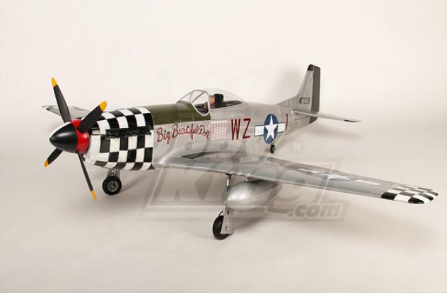 P-51D野马怪物6CH1.55米XL-EPO-61inch PNF