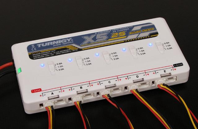 Turnigy X5 2S 5口锂聚合物电池充电器
