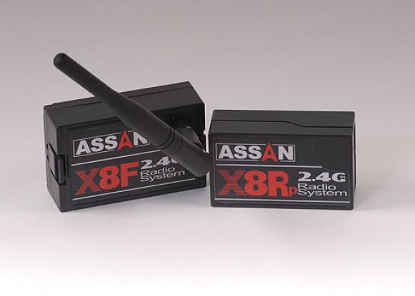 X8套件2.4GHz的双叶8CH /海泰克国防部。 W / Parkflyer接收