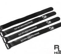 RJX Ultra-Grip Silicone Velcro Battery Straps Black (250X20mmx4pcs)