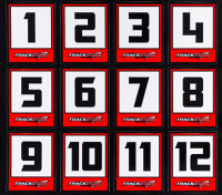 Trackstar Racing Number Decals (50 Sheets)