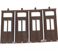 Micro Engineering HO Scale Double Arch Window Transom Doors (80-062)