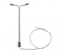 HO/OO Scale Working Modern Angled Arm Twin Stanchion Street Lamp 1/75 1pc
